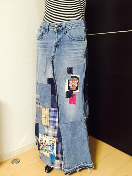 M様オーダーシュガースカルのリメイクスカート