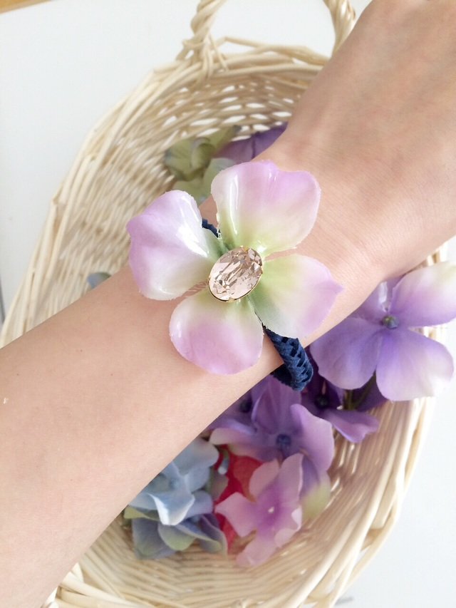 glass hydrangea bracelet��������