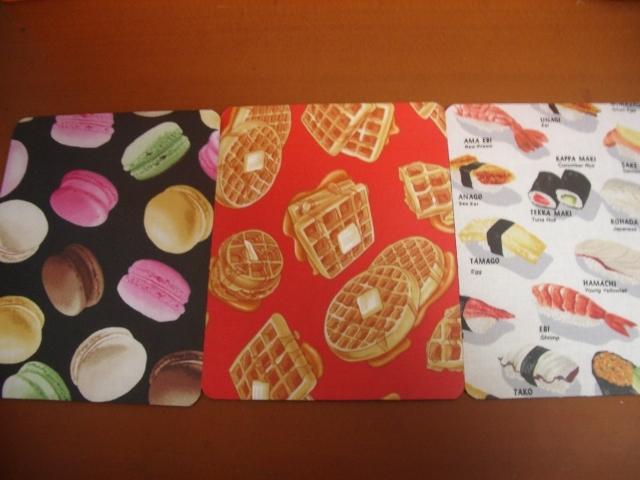 200.分け合いセット・美味しそうな食べ物シリーズ/マウスパッド3点セット/食べ物シリーズ
