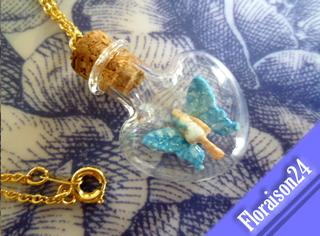 『ハート小瓶の妖精』パステルブルー