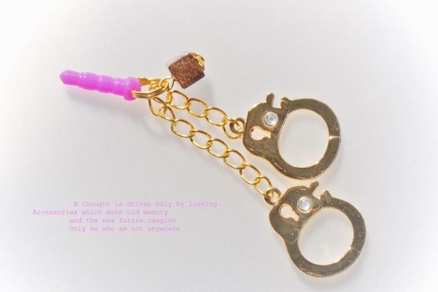 handcuffs*★☆彡イヤホンジャックピアス*天然石ブロンザイト*☆彡