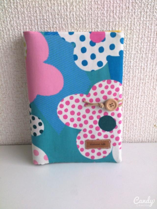 カラフルなお花通帳.母子手帳ケース