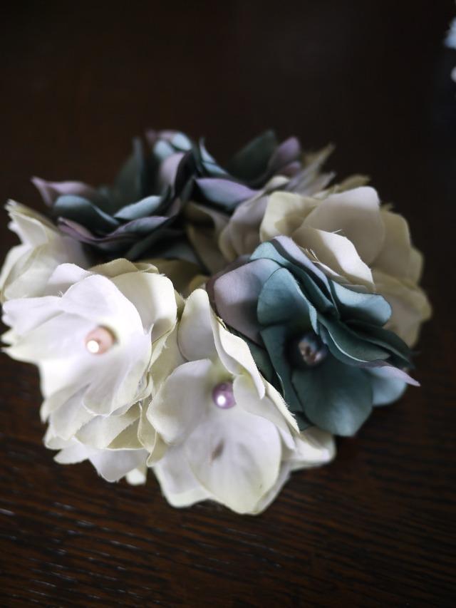 紫陽花のシュシュ