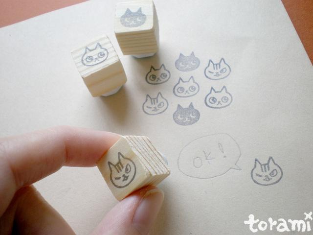 猫の顔のはんこセット7