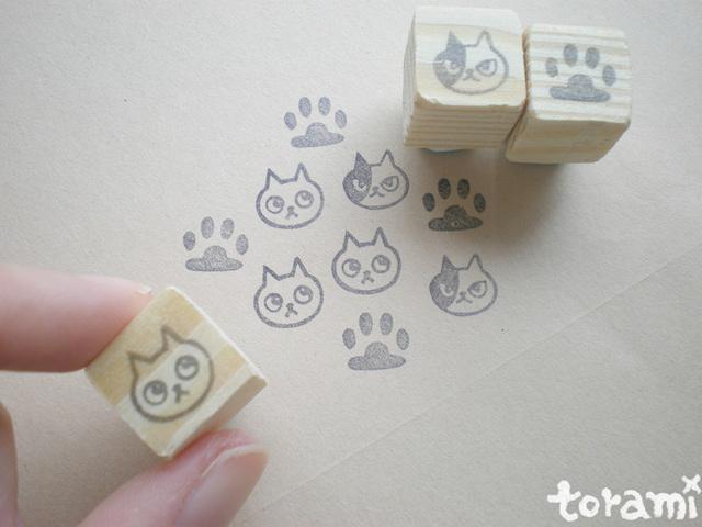 猫の顔+肉球のはんこセット11