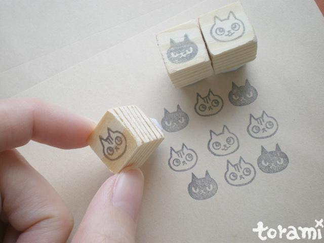 猫の顔のはんこセット8