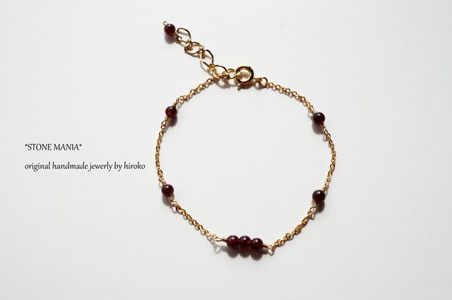 ?Stone bracelet?ガーネット?