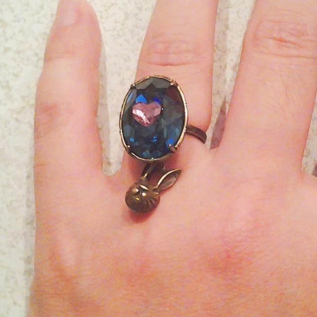うさぎのハートの指環