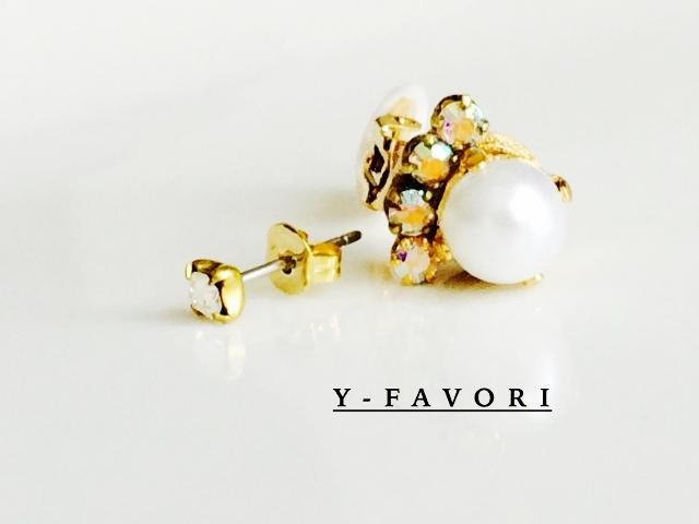 bijou*ピアス&イヤーカフ (pearl)