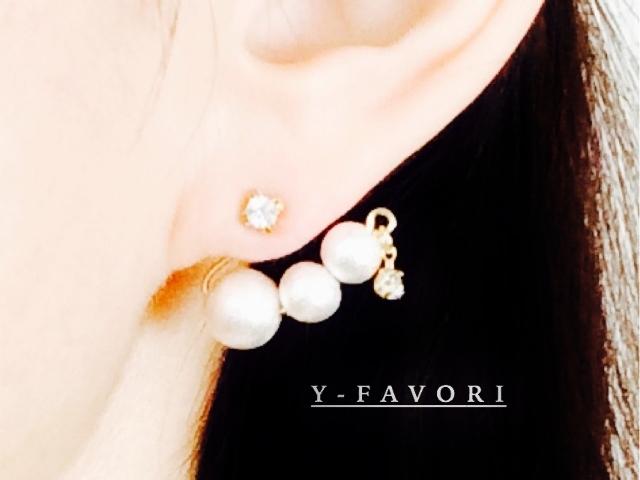 Petit swaro・ pearlキャッチ*Gピアス