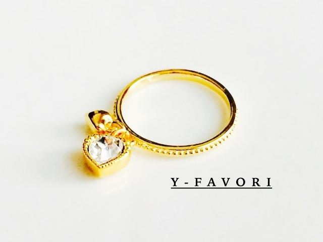 swarovski・チャーム*ring(ハート)G
