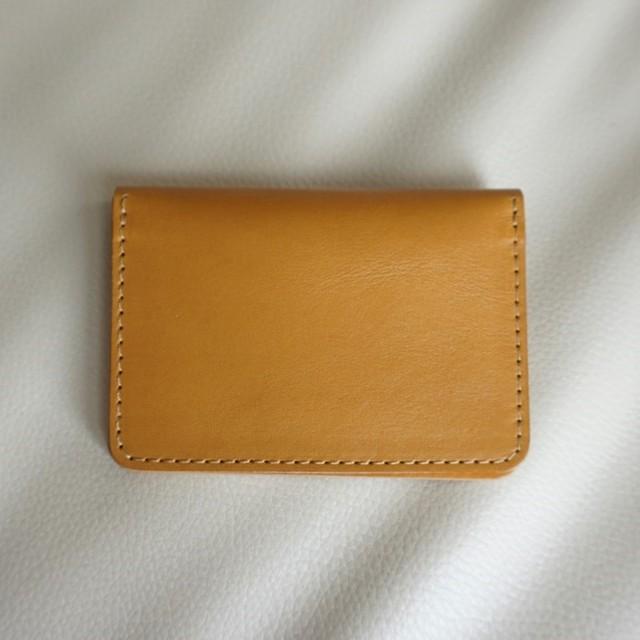 0514e144a45b 小さな IDパスケース 【グロースソフトレザー】イエローゴールド 名入れ/ギフトラッピング可【ご注文順に生産致します】