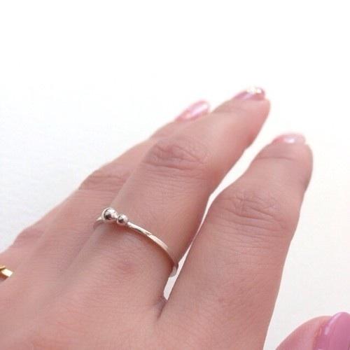 silver dewdrop ring