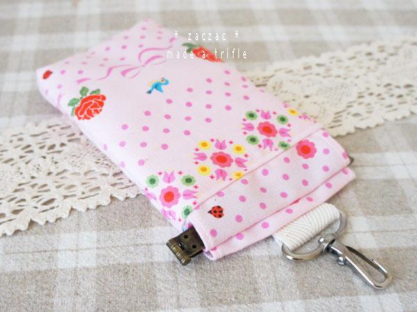 バネポーチ*携帯/iPhoneケース*薔薇とリボン