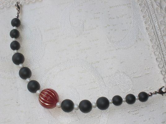 羽織紐(黒×白)