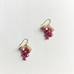 vintage M.H grape earrings (pink)