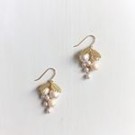 vintage M.H grape earrings (white)