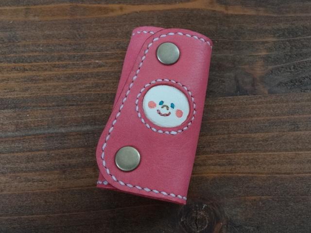 ninmari  本革キーケース ピンク