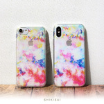 iPhone ケース 【 色彩 ハートビート 】 ソフトケース  iPhoneXS iPhoneX iPhone8 iPhone7 iPhone6s iPhone6