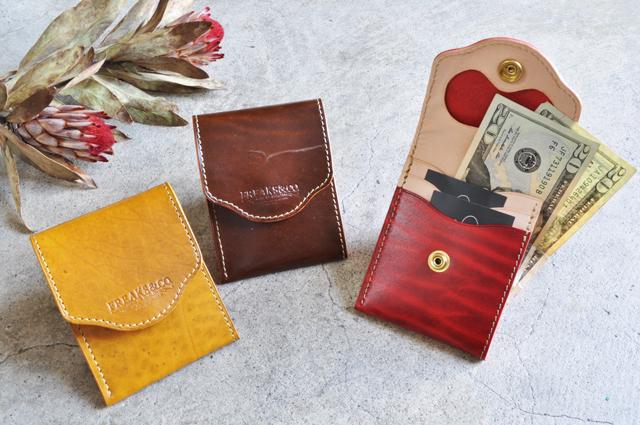 54700340b6fa 【受注生産】薄型コンパクト財布(サイドオープン)/「革の宝石」ルガトー2色展開