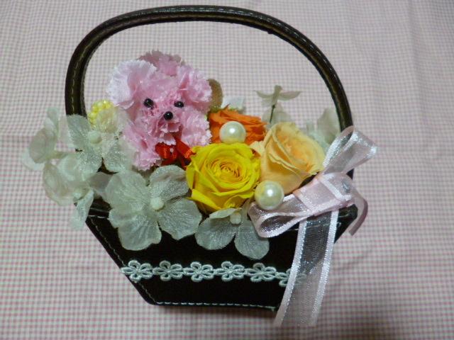 母の日に…かわいいお花のプードル入り...