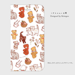 "iPhone手帳型ケース  ""Bears and Cats"" 帯なし"