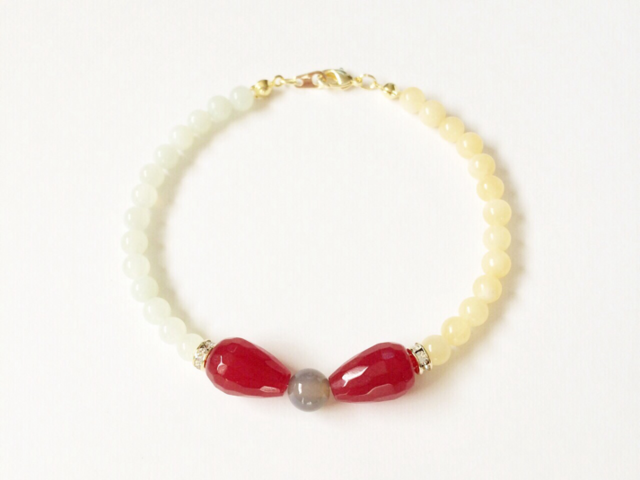 bow bracelet (ruby)