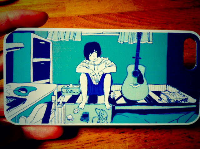 m-青色 iPhoneケース 4・4S