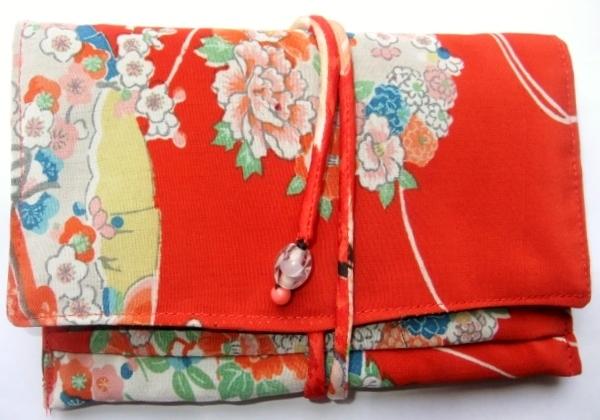 花柄の女の子の着物で作った和風お財布 079