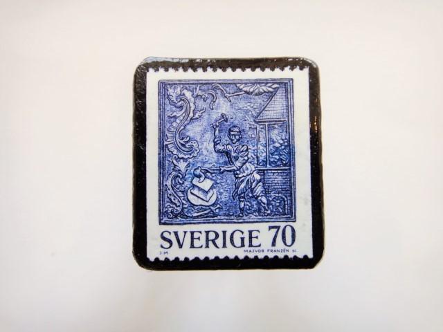 スウェーデン 鍛冶屋切手ブローチ906