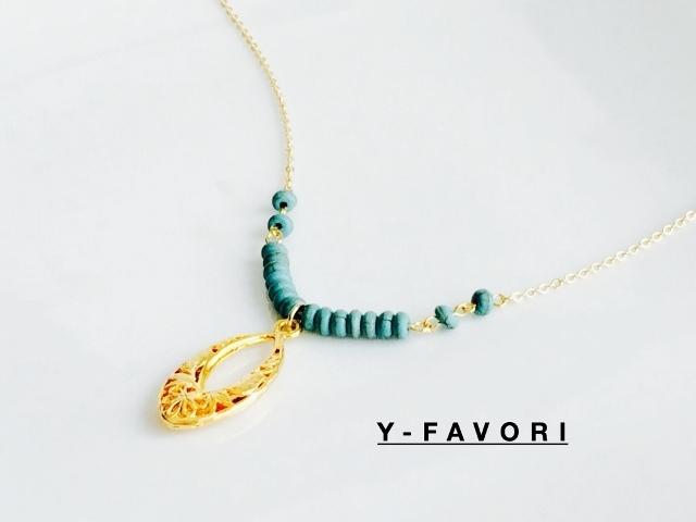 マルディンフィリグリー(turquoise)*ネックレス