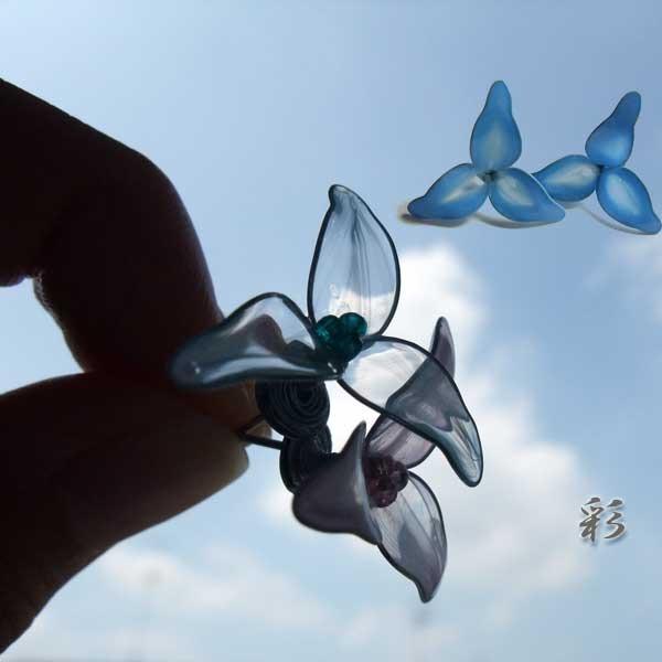 選べるcolorマーブルセレクト★一輪の花のピアス