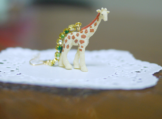 (Sold out)animal片耳ピアス【Giraffe】