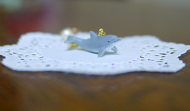 (Sold out)animal片耳ピアス【Dolphin】