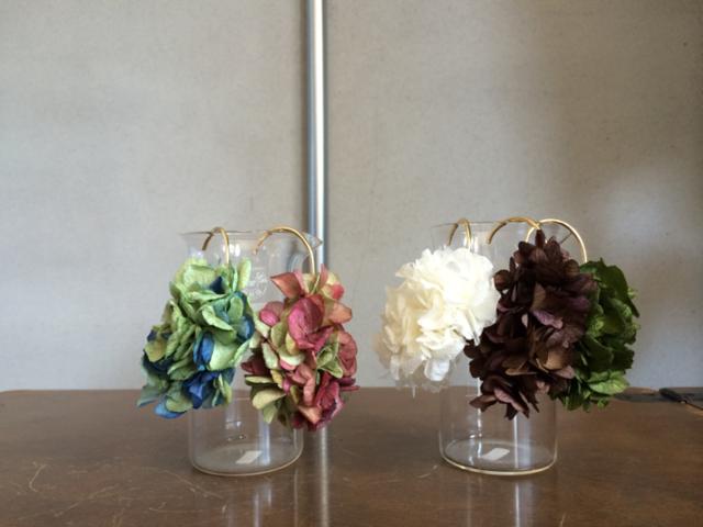 紫陽花 −blue×green− イヤーカフ