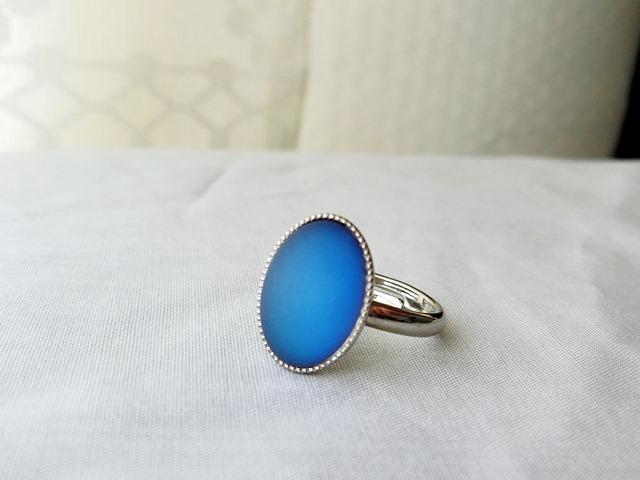 サイレントブルーのリング