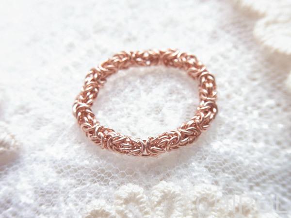 チェーンのリング /14kgf pink