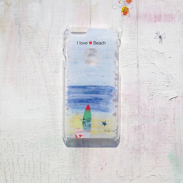 空と海と浜辺と iPhone case(6)
