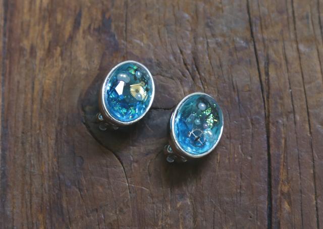 --SALE-- 購買部209:シリウス金剛石の耳飾/翠水色(イヤリング)