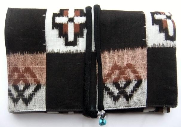 綿の男の子の着物で作った和風お財布 086