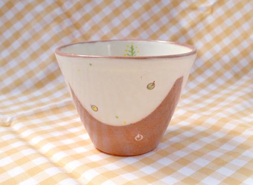 そばちょこカップ(野風)黄緑