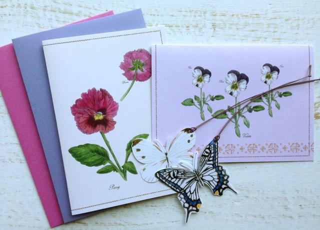 Spring greeting card ヴィオラ