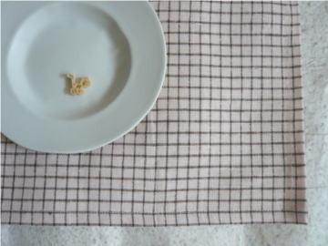 ランチョンマット2枚セット 格子桃と格子  [e3-8]