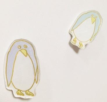 きをつけペンギンさんブローチ【送料無料】