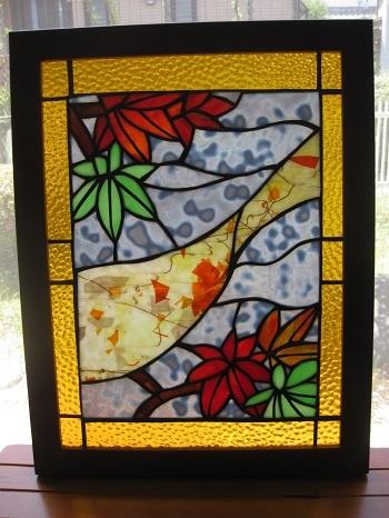 ◆🍁紅葉のパネル (送料無料)   ◆ステンドグラス