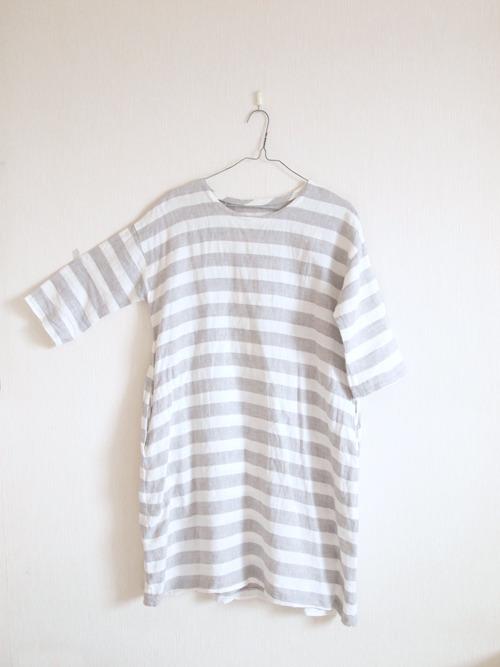 ����Linen�� One -piece / border��
