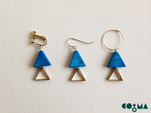 Summer Triangle  Earring ターコイズ