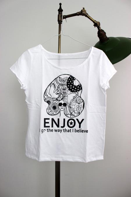 T-shirt �� ENJOY ��Girls-M