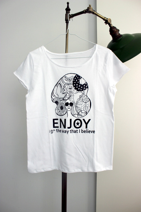 T-shirt �� ENJOY ��Girls-L