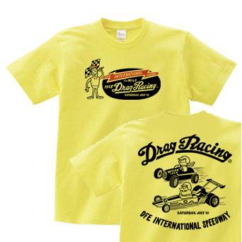【再販】ドラッグ?レース☆1/4マイル☆アメリカンレトロ 両面  150.160.(女性M.L) S〜XL Tシャツ【受注生産品】